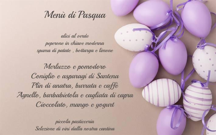 menu uova